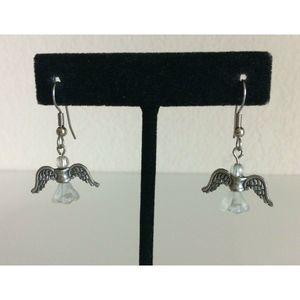 Flying Angel Women's Earrings Wings Dangle Drop